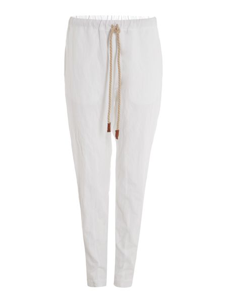Sarah Pacini Straight pants with fancy belt
