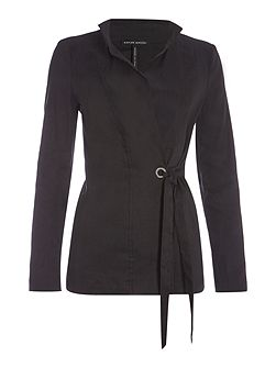 Long jacket with long sleeves