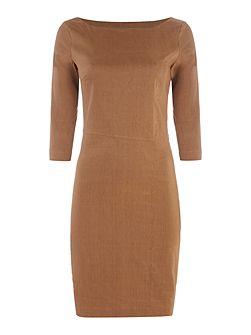Short dress with 3/4 sleeves