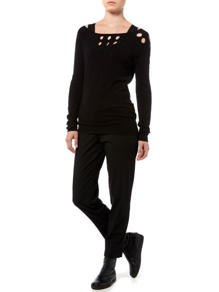 Sarah Pacini Long Fitted Sweater
