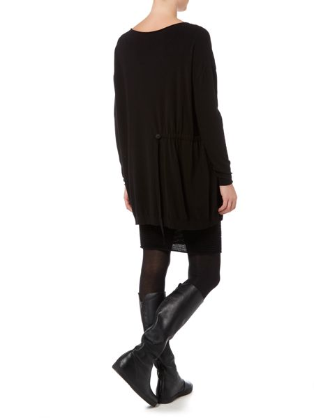 Sarah Pacini Long Sweater With Soft Belt