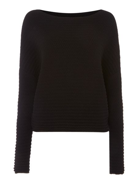 Sarah Pacini Relaxed Fit Cropped Sweater