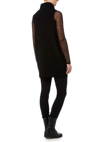 Sarah Pacini Funnel Neck Sleeveless Sweater