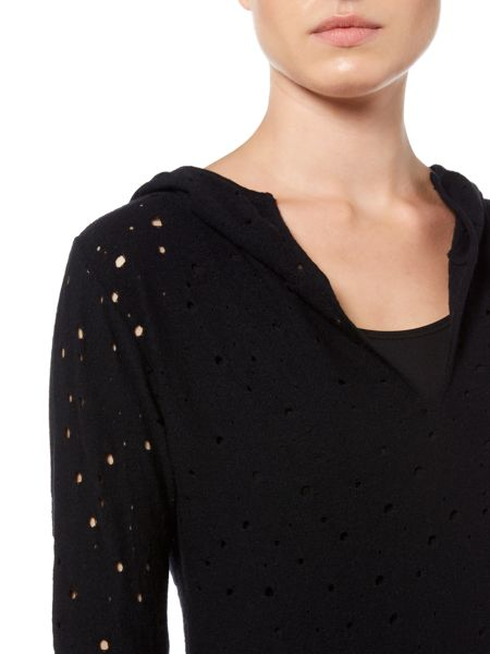 Sarah Pacini Fitted Sweater With Hood