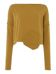 Sarah Pacini Short Sweater With Pocket