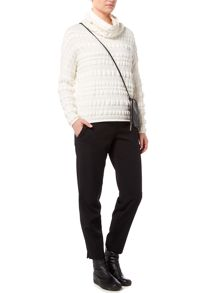 Sarah Pacini Loose Fit Funnel Neck Sweater