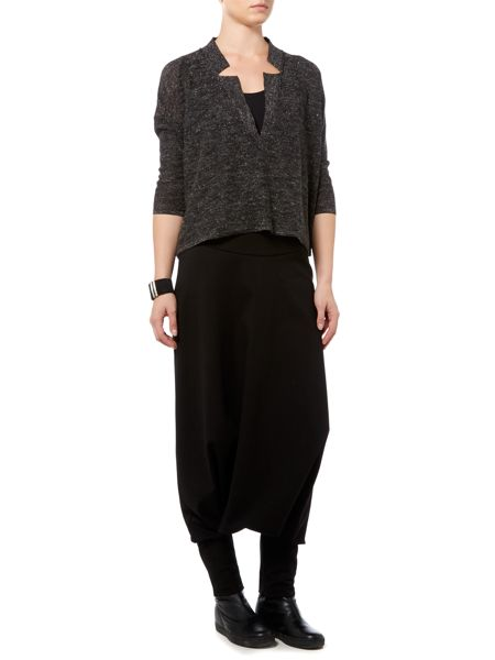 Sarah Pacini Loose Fit V Neck Sweater