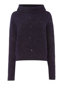 Sarah Pacini Funnel Neck Short Sweater