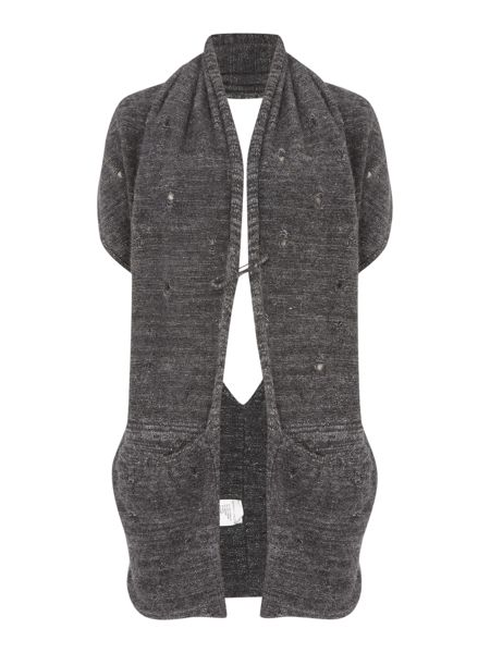 Sarah Pacini Long Sleeveless Cardigan