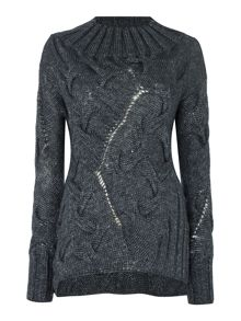 Sarah Pacini Asymmetrical Long Sweater