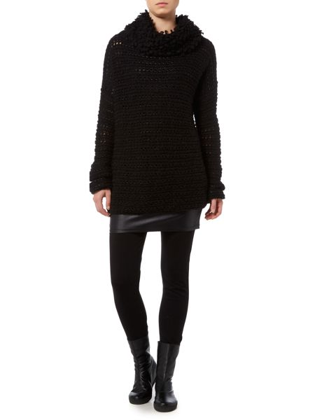 Sarah Pacini Funnel Neck Long Sweater