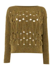 Sarah Pacini Loose Fit Short Sweater