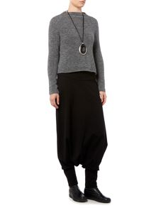 Sarah Pacini Fitted Sweater With Mock Neck