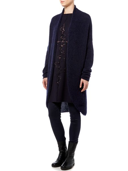 Sarah Pacini Long Straight Cardigan