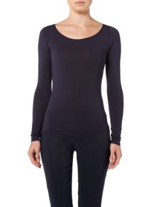 Sarah Pacini Zoë Long Sleeve Scoop Neck T Shirt