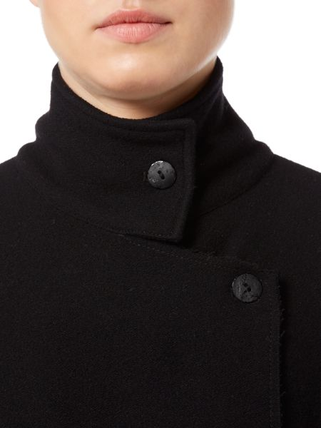 Sarah Pacini Funnel Neck Long Coat