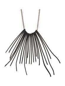 Sarah Pacini Long Necklace With Leather
