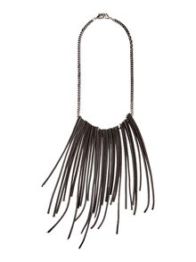 Sarah Pacini Short Necklace With Leather