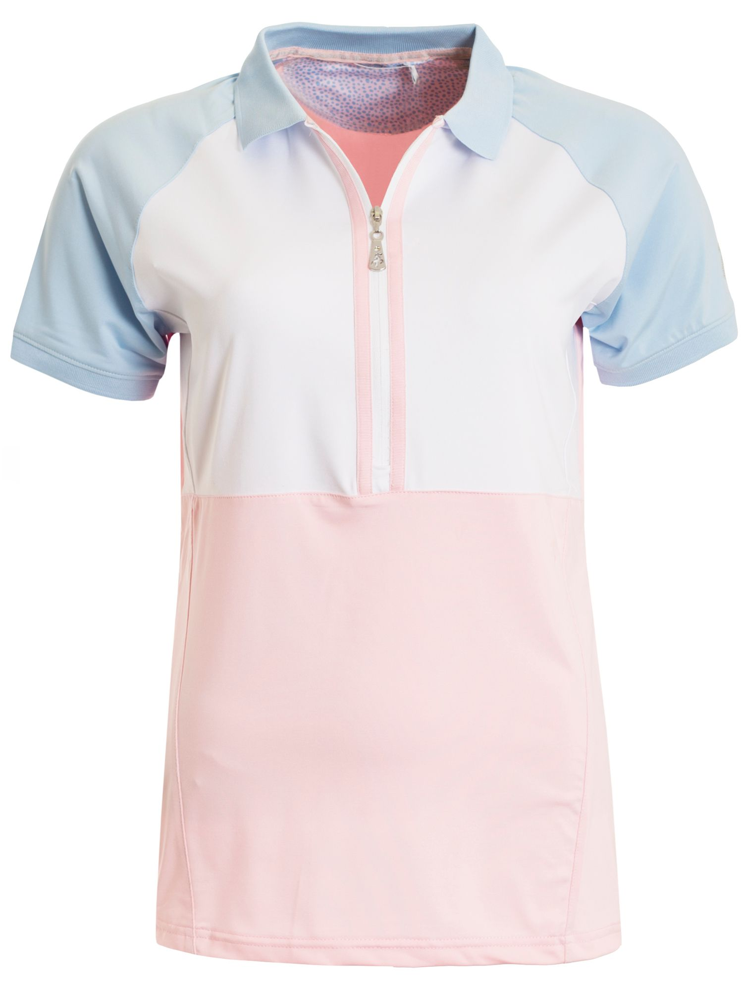 Green Lamb Philly Raglan Sleeved Colour Block Polo, Pink
