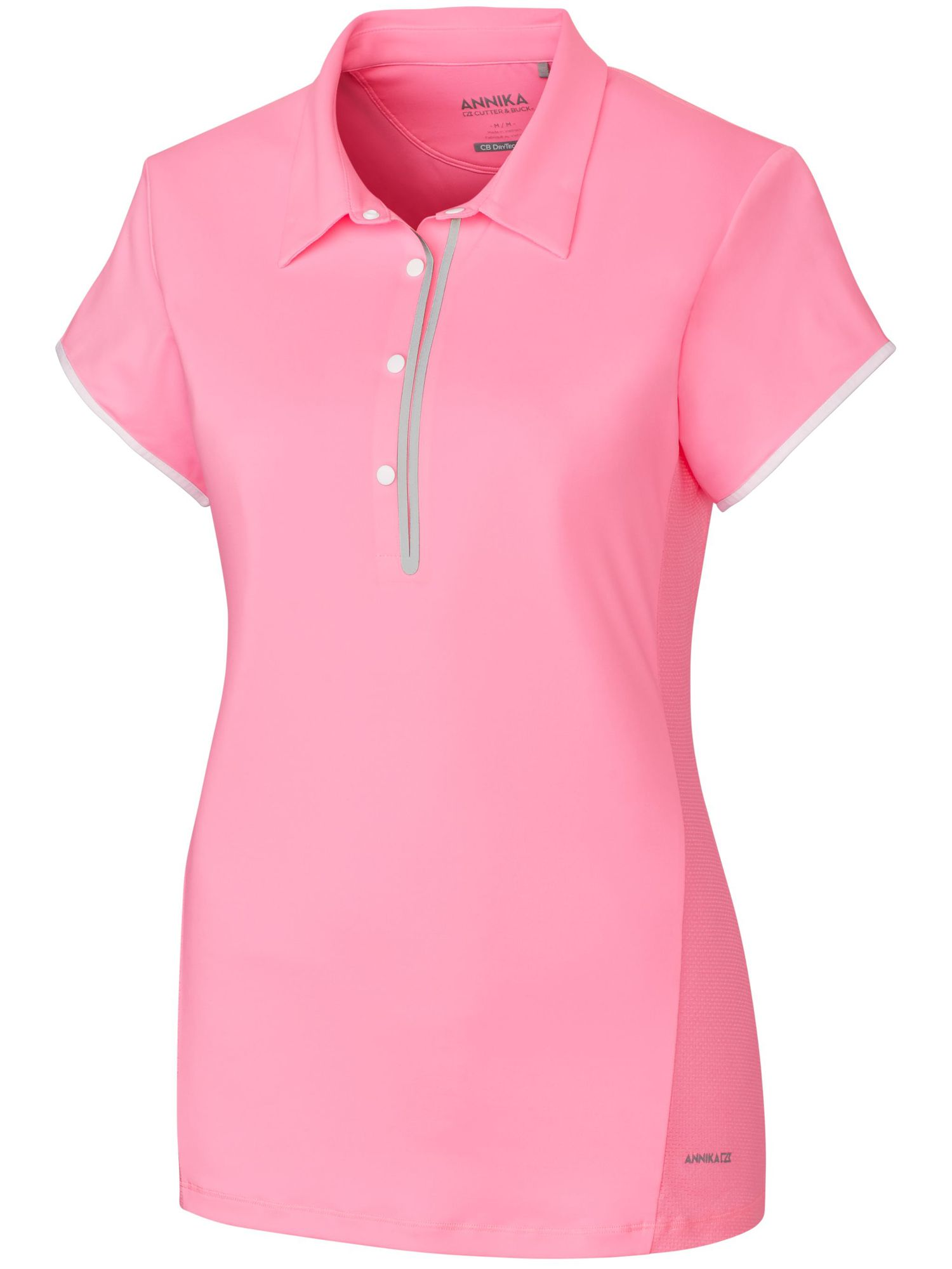 Annika Competitor Cap Sleeve Polo, Pink