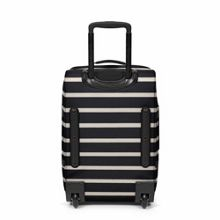 Eastpak Tranverz small gingham stripe wheeled suitcase