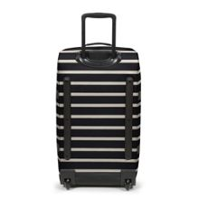 Eastpak Tranverz medium gingham stripe wheeled suitcase