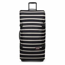 Eastpak Tranverz large gingham stripe wheeled suitcase