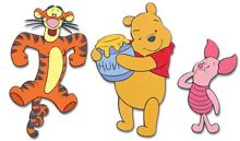 Winnie the Pooh Foam Elements 3pcs