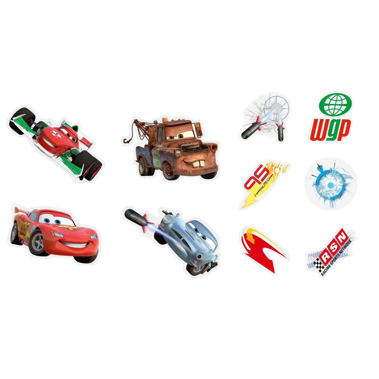 Disney cars 10 piece foam elements