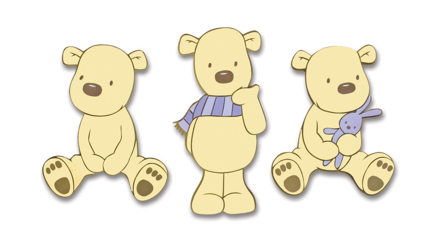 Bears Foam Wall Elements 3pcs