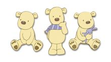 Graham & Brown Bears Foam Wall Elements 3pcs