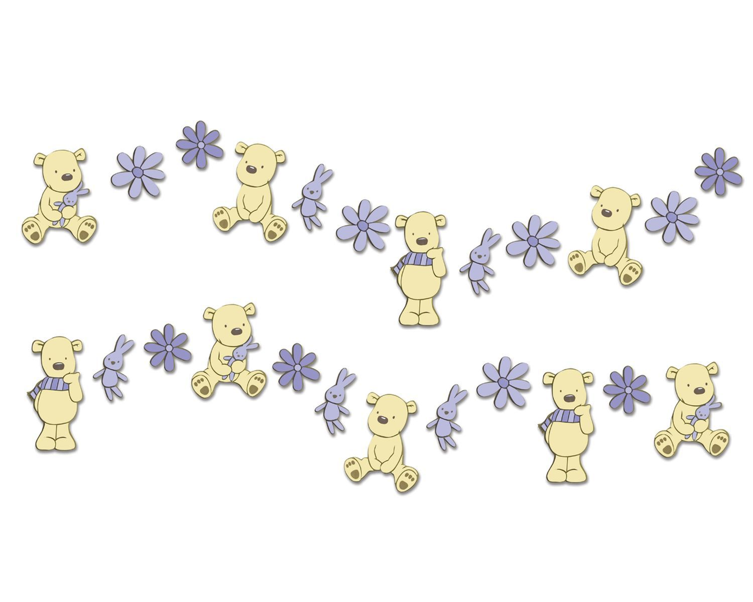 Bears Mini Foam Wall Elements 24pcs
