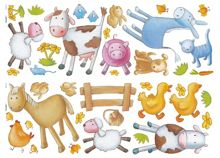 Animal farm wall sticker