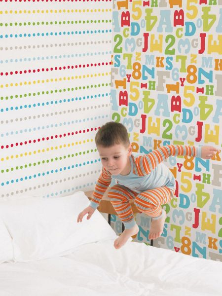 Graham & Brown Pooh Bother Free Day Dots Wallpaper