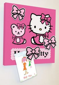 Graham & Brown Hello Kitty Magnetic Canvas (30x30cm)