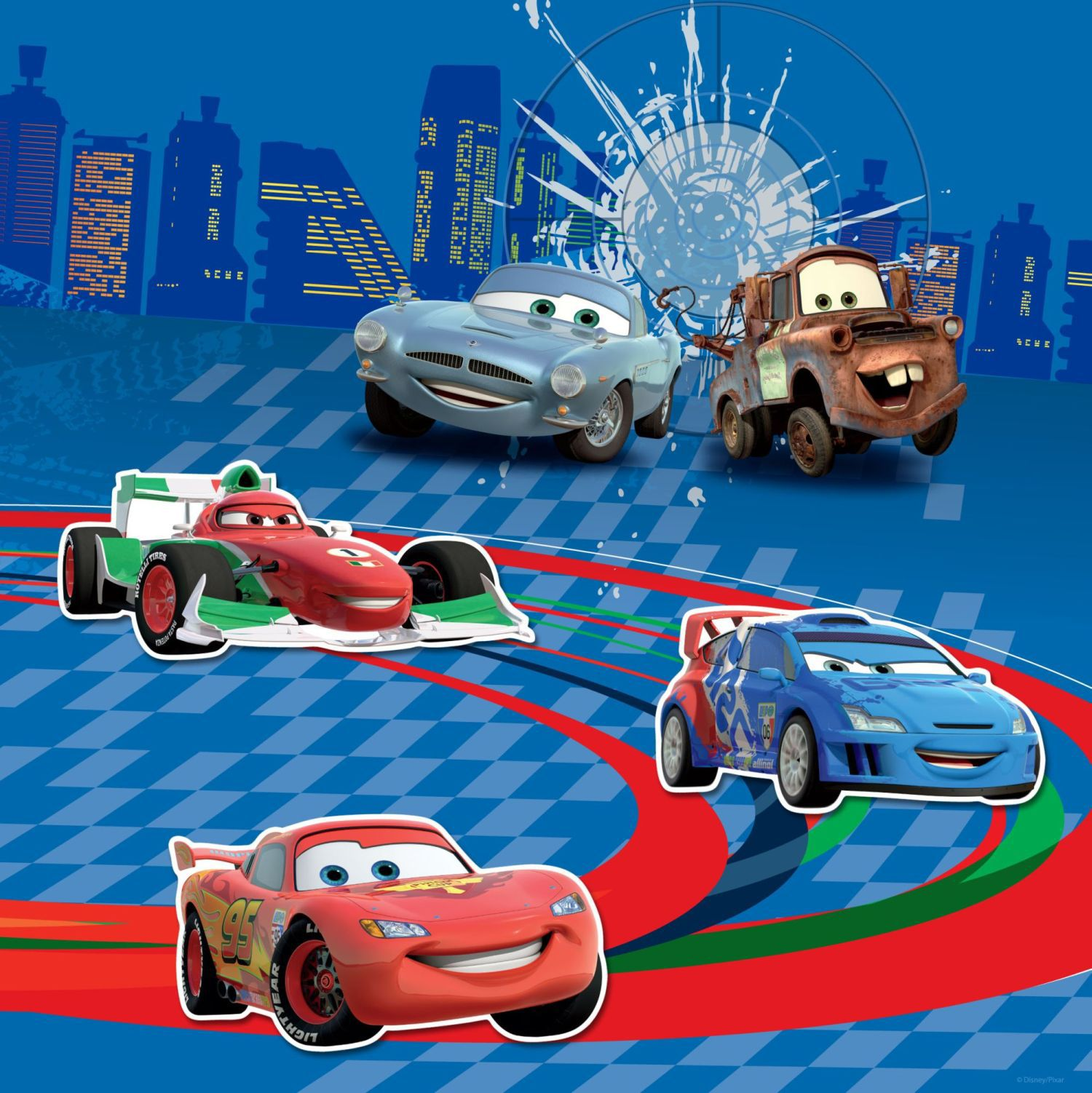 Cars Magnetic Canvas (30x30cm)