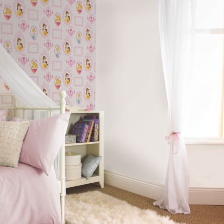 Graham & Brown Pink Princess Royal Frames Wallpaper