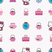 Graham & Brown Pink / White Hello Kitty Wallpaper