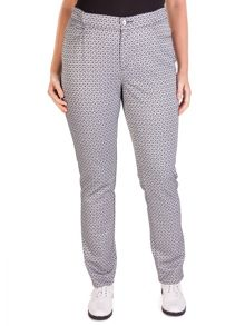 Xandres xline Plus size slim fit jacquard patterned trousers