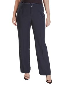 Plus size fluid trousers with adjustable waist