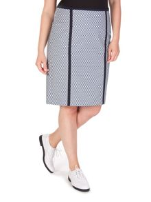 Xandres xline Plus size two-tone jacquard patterned skirt
