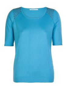 Luxurious top with studs