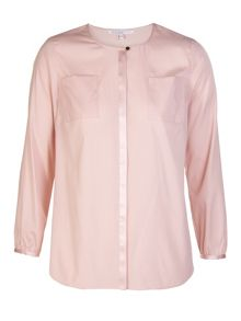 Xandres xline Stretchy silk blouse