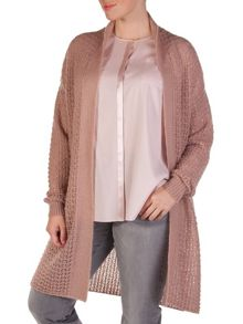 Knitted mohair long cardigan