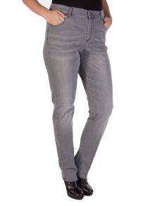 Grey 5 pocket stretch trousers
