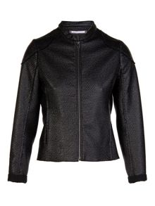 Coated black `perfecto` jacket