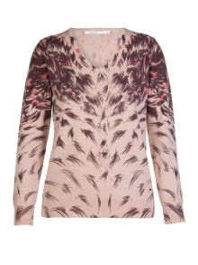 Xandres xline Printed slightly hairy wool jumper