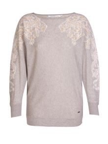 Xandres xline Embellished cotton sweater