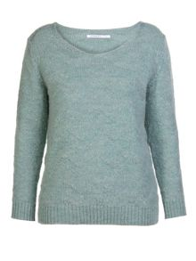 Mix wool round neck sweater