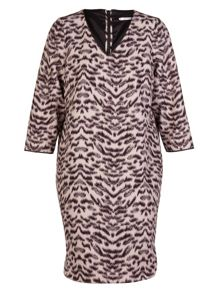 Xandres xline Plus Size Animal print spandex dress